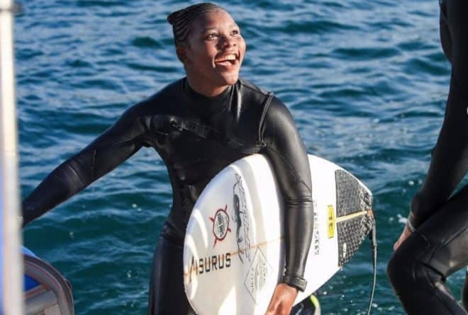 African women surfers on undertaking a male dominated sport and surfing