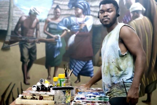Celebrating Babajide Olatunji's painting of Efunsetan Aniwura in UK Black History Month