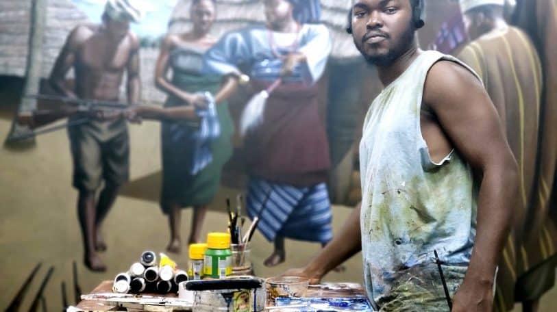 Celebrating Babajide Olatunji's painting of Efunsetan Aniwura in UK Black History Month