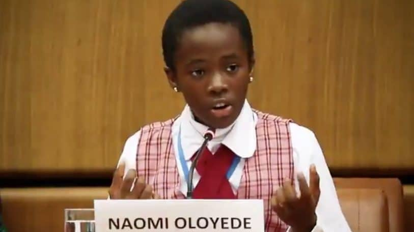 11-year-old Nigerian Naomi Oloyede delivers impressive speech at the Education for Justice conference in Austria