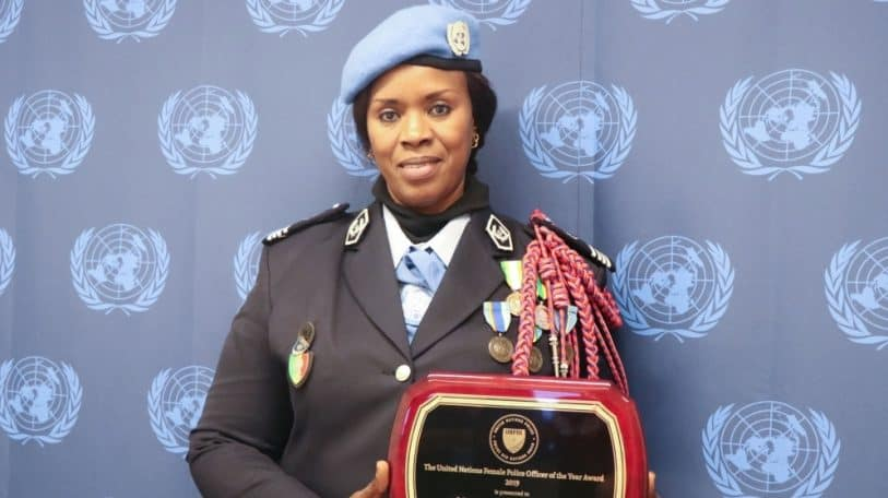 Senegalese Major Seynabou Diouf awarded 2019 UN Female Police Officer of the Year