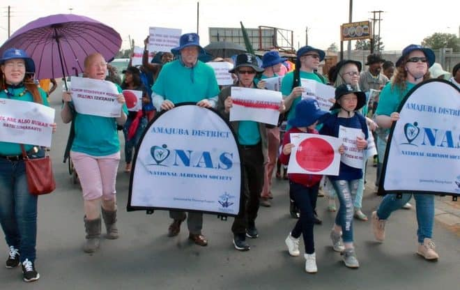 South Africa: People with albinism march for skin cancer awareness