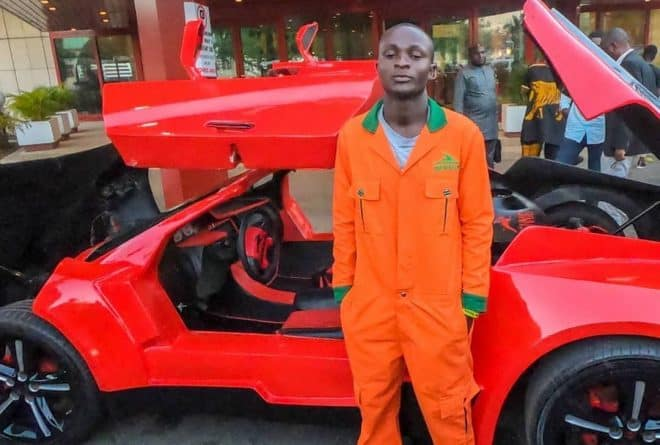 25-year-old Jerry Isaac Mallo has manufactured Nigeria's first carbon fiber sports car