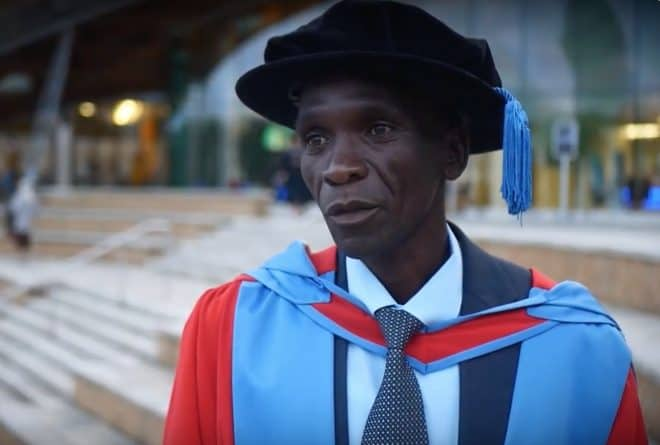 Eliud Kipchoge receives Honorary Doctor of Laws and Elder of the Order of the Golden Heart of Kenya award