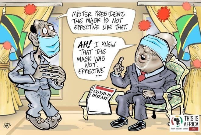 Cartoon: Tanzanian President John Magufuli and COVID-19 denialism