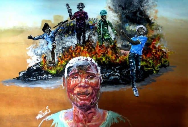 Refugee uses art to tell stories of xenophobia